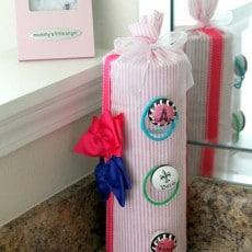 Create a counter hairbow holder in under 10 minutes, adorable, easy and customizable