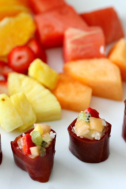 Create homemade Frushi, the Sushi Alternative for your kids