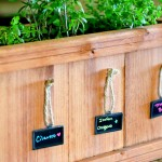 Inspiration: Creating an indoor garden and marking herbs, skip the stakes and mark via mini chalkboard signs, Learn more