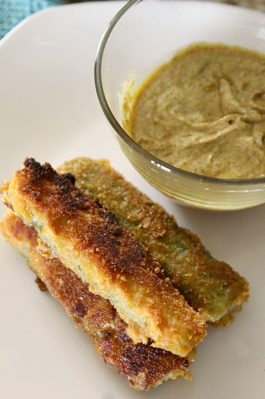 Sweetened Fried Pickles, July 4th treat- you will never guess what these are coated with! Recipe