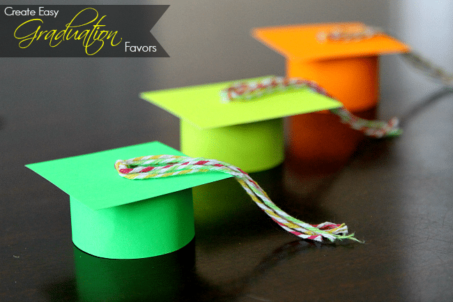 Create a graduation cap favor for gifts, fun, or pretend play, easy (and no, does not have to be black!)