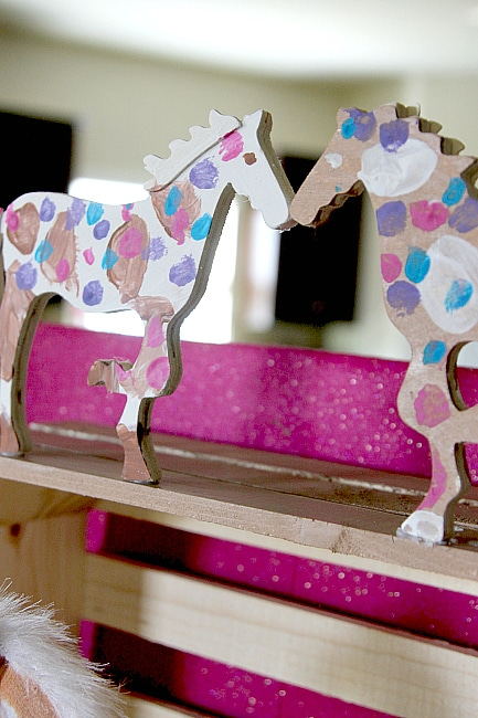 How to make a Play Barn for under $20 - Skip the plastic toys and create custom with your horse loving child