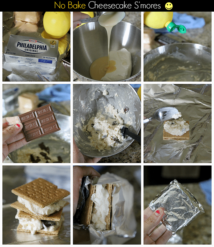 No Bake Cheesecake S'mores, 5 minute prep time for a terrific treat!