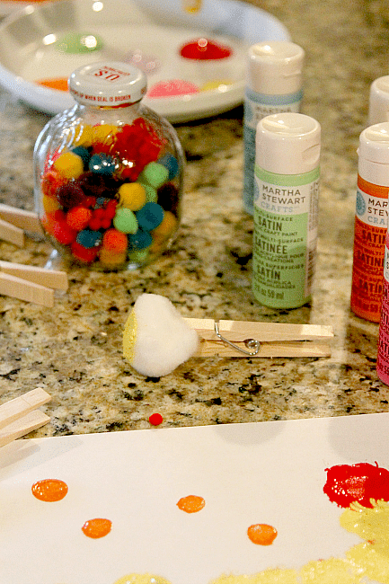 Create your own paint brush (or puff brush) and get to making some great art with kids of any age