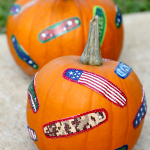 No Carve Pumpkin idea, easy for kids, just add your favorite band-aids!