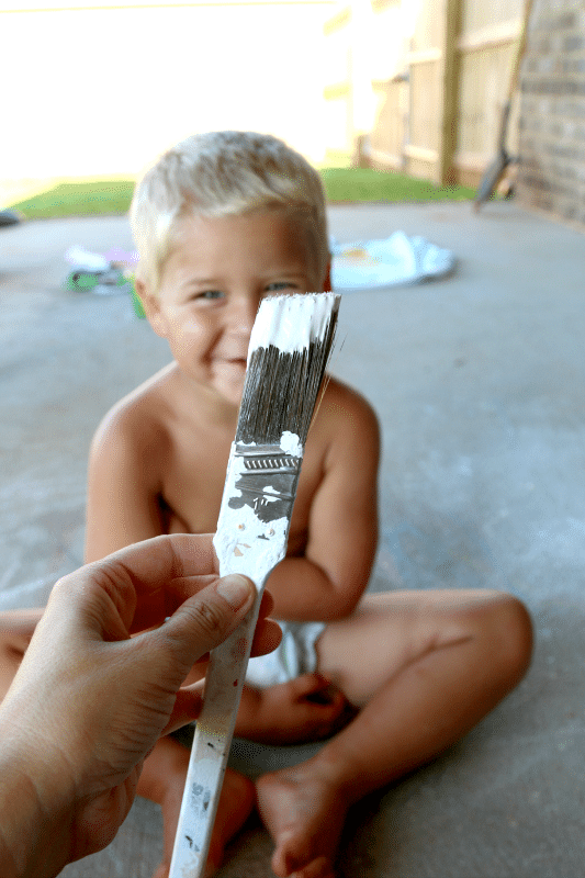Create Ghost Footprints for easy home painting fun!