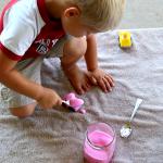 Make Rainbow Foam for sensory play, fun carwash and more! 3 Ingredient household fun, DIY