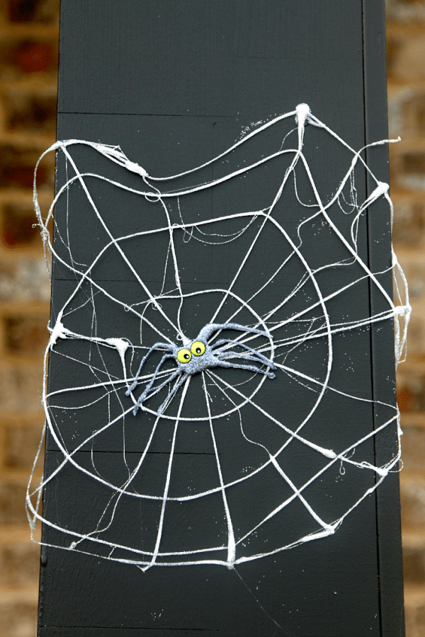 hot glue removable spider webs