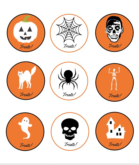 image regarding Printable Halloween Tag known as Absolutely free Halloween Printable: Doggie Bag Tags