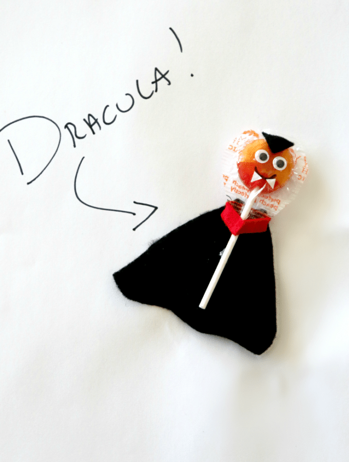 DIY Dracula Suckers For Halloween