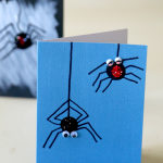 Thumbprint Spider Art for Toddlers and Kids, very fun and full of personality! Easy Craft