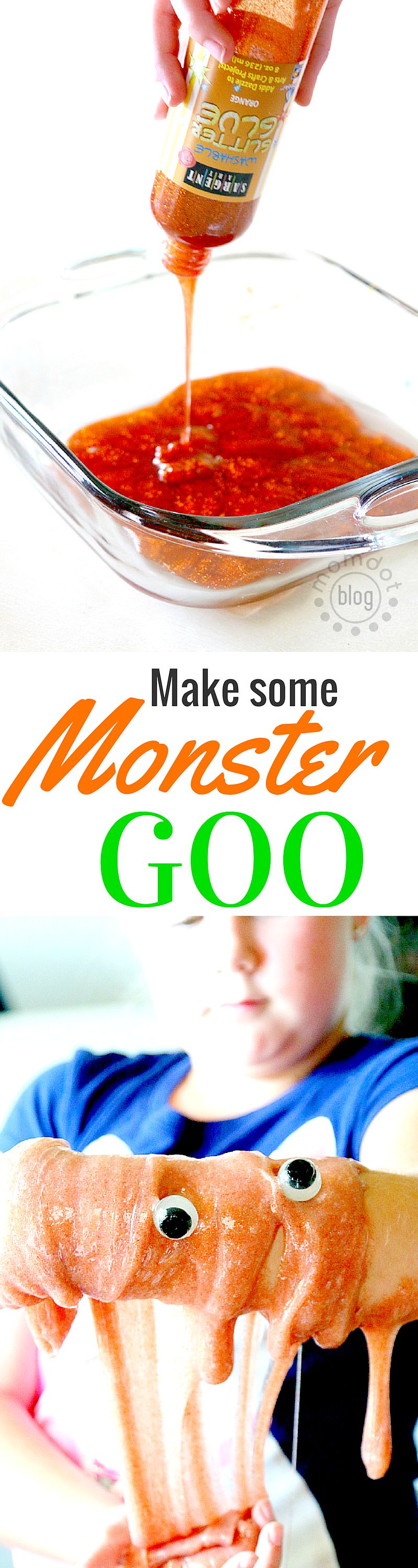Monster Goo Slime without Borox, tutorial and complete recipe to create some big slimey fun in your home