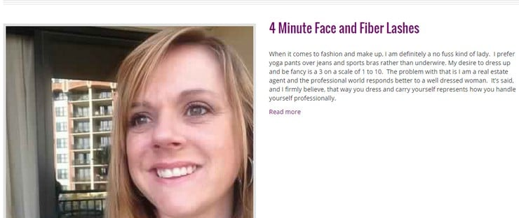 4 minute face and fiber lashes