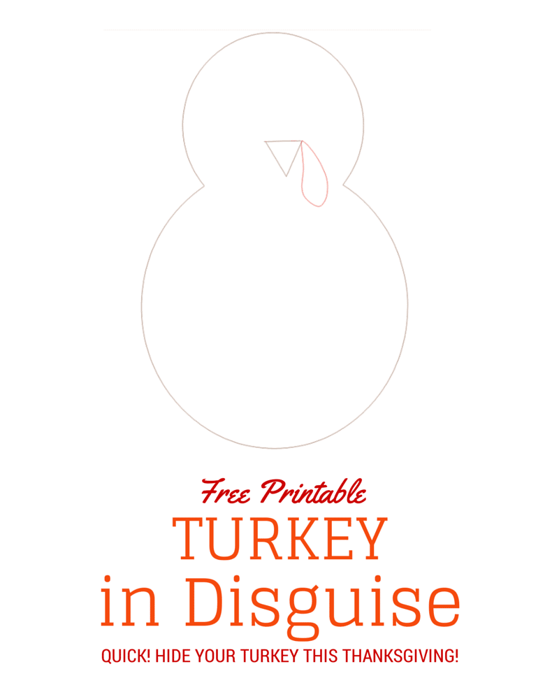 Turkeyindisguise Turkey In Disguise Free Printable