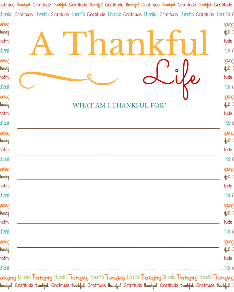 picture regarding I Am Thankful for Printable identified as No cost Printable: I am Grateful for