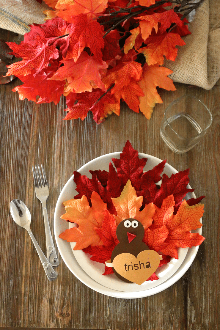 Paper Plate Turkey Craft: Place Setting