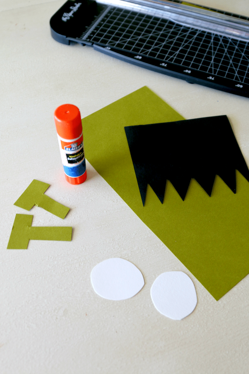 "Frankenstein craft for kids, create your own Frankenstein paper craft ""Lab"" and let kids put together"