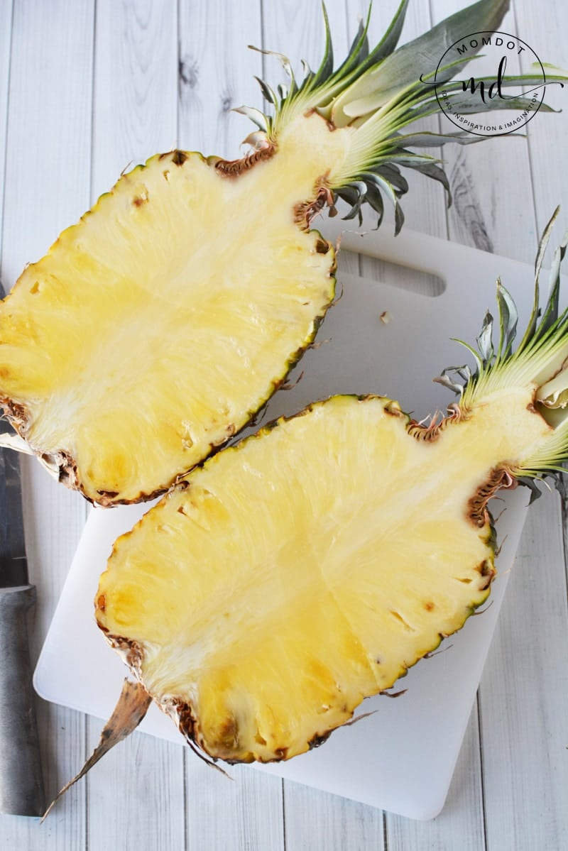 How to cut a Pineapple as a Serving Dish