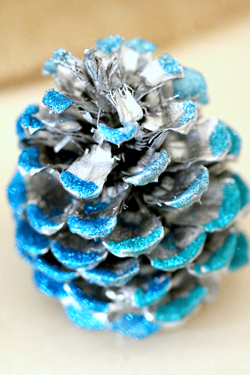 Glitter Pine Cones : DIY Fall Decor