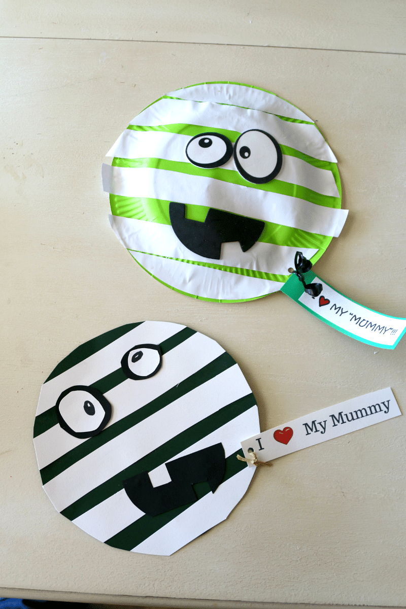 I love my mummy free printable for Paper plate craft images