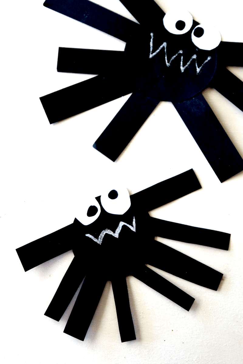 Create Paper Spider Perfect Fun Craft For Preschool Kids You Can Also Hang Up