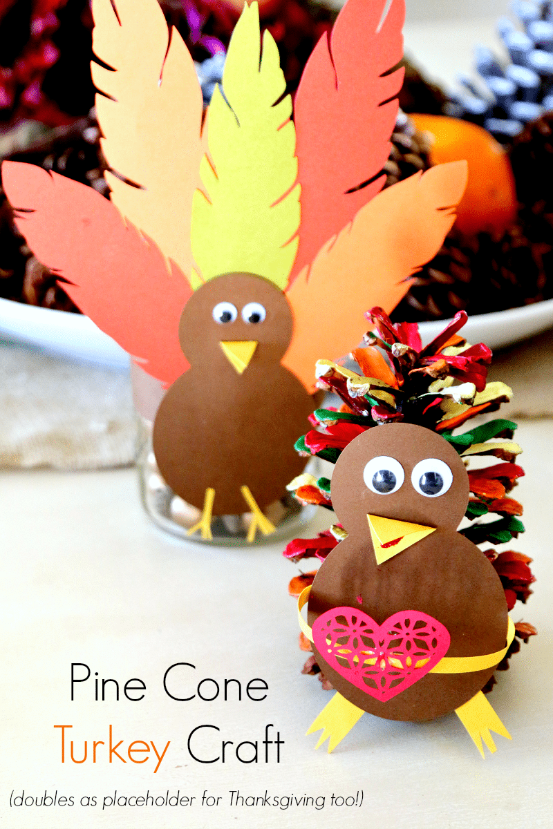 Pine Cone Turkey Craft: Thanksgiving fun for kids