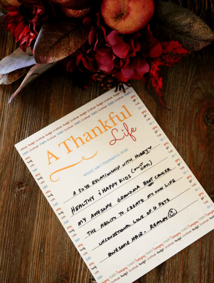 Free Printable: I am Thankful for