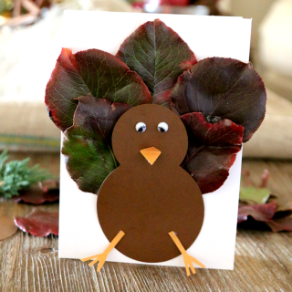 Fall Leaf Turkey Card (or Craft)