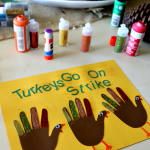 Thanksgiving Hand Craft, Turkeys Go On Strike!