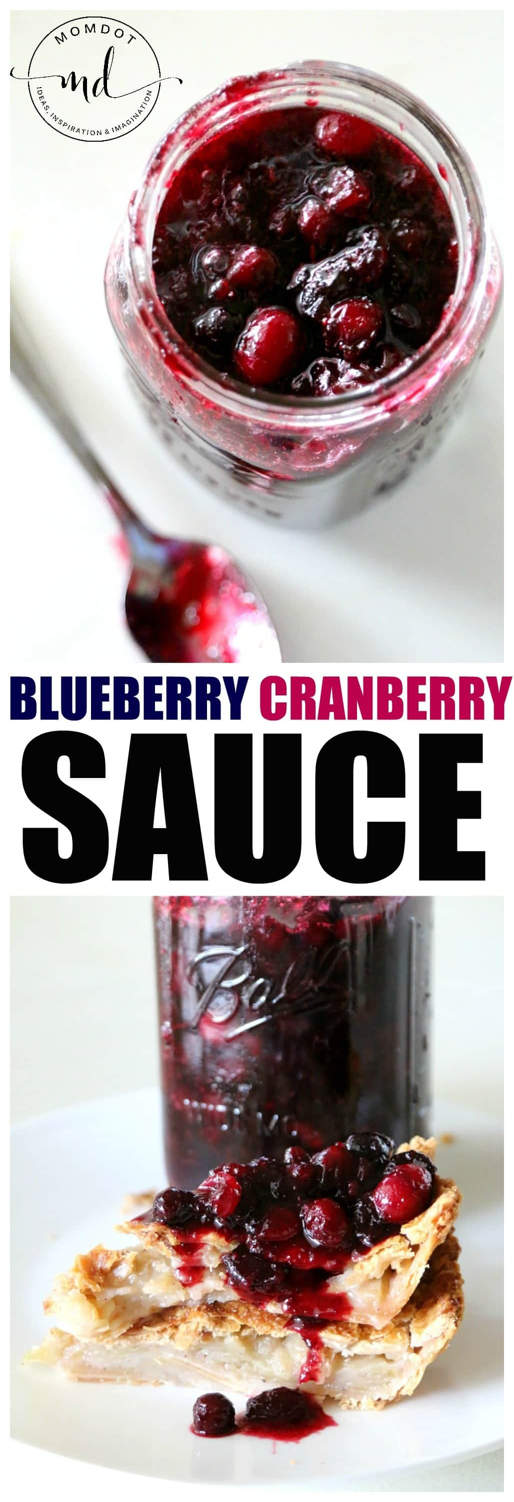 Blueberry Cranberry Sauce Recipe, a perfectly delicious WOW side dish that doubles as a pie topping