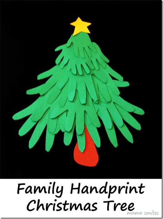 christmas tree handprint - photo #25