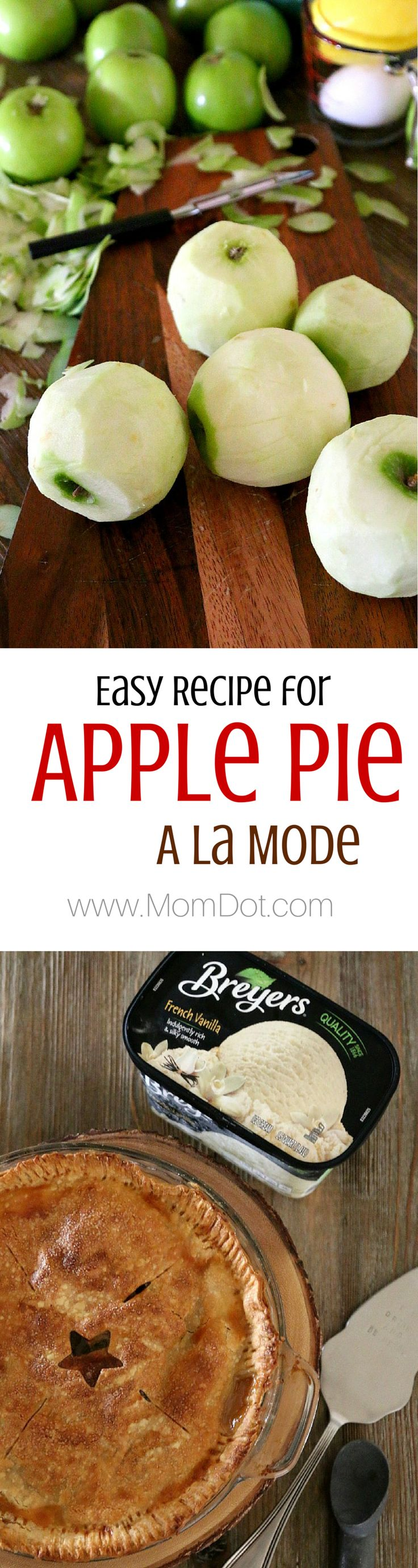 Easy Apple Pie Recipe (and make it a la mode with a little ice cream too!) step by step picture instructions from a first time apple pie maker- if i can do it, you can too!