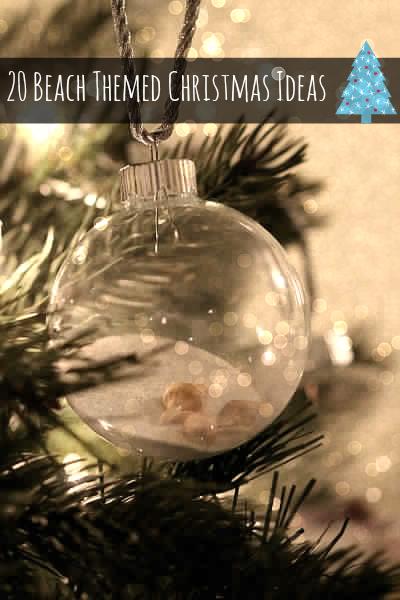 20 beach themed christmas diy ideas - Beach Themed Christmas Ornaments