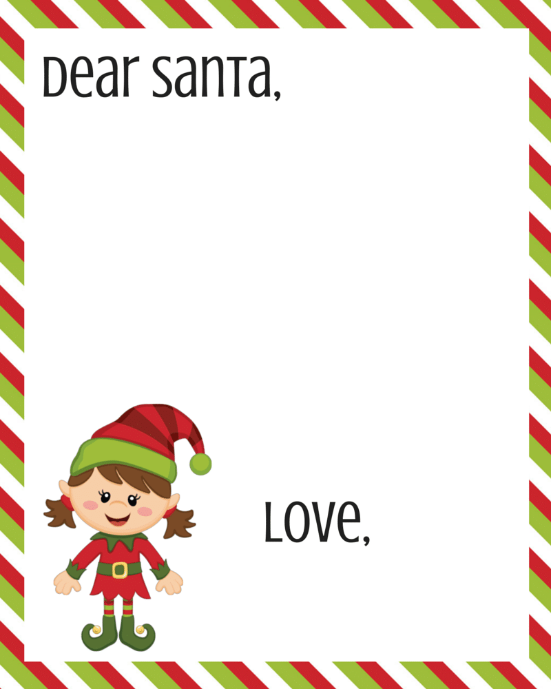 Dear Santa Letter Printable FREE