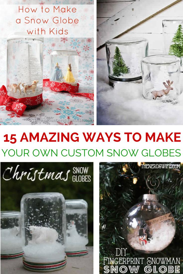 15 Diy Snow Globe Ideas