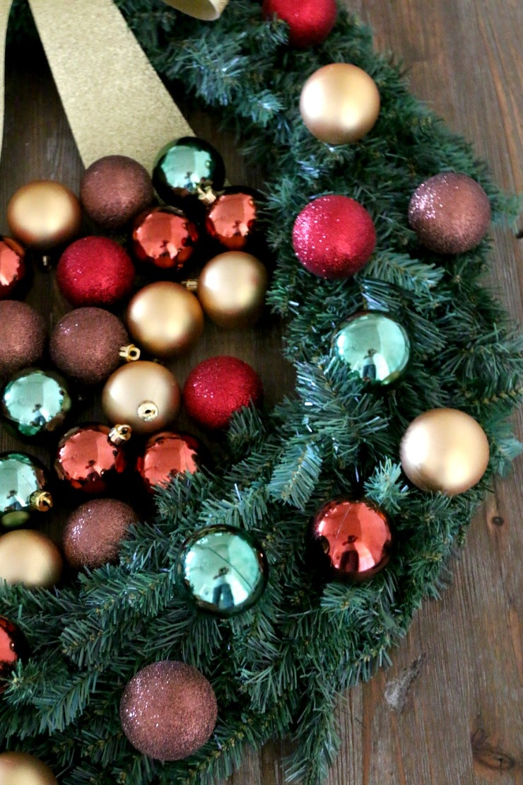 christmas ball wreath tutorial