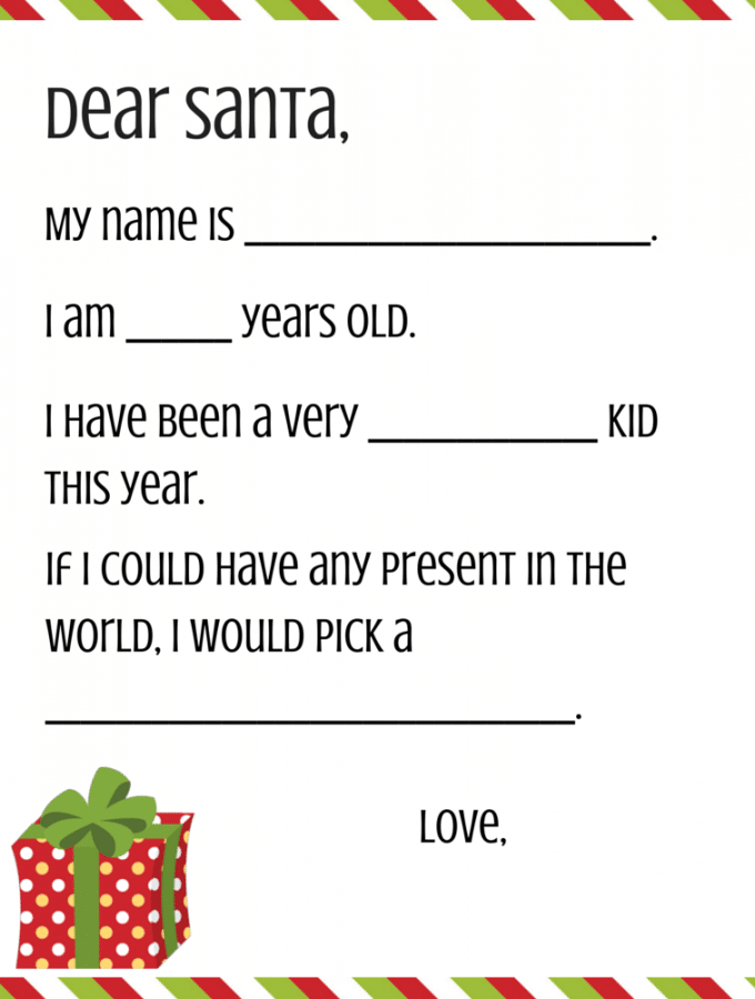 Free Dear Santa Printable Set