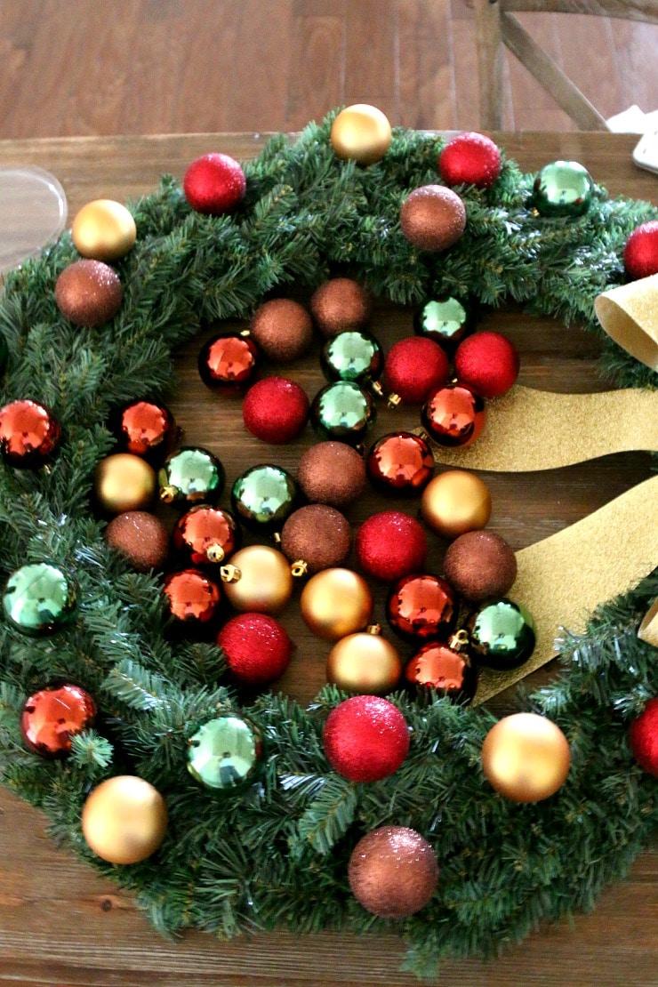 christmas ball wreath tutorial