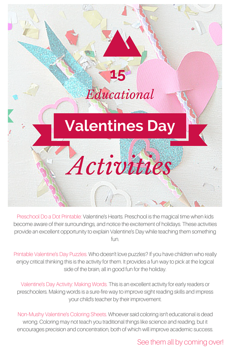 15 Educational Valentine S Day Activities