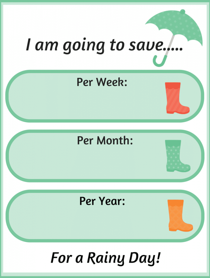 Monthly Saving Challenge Printables