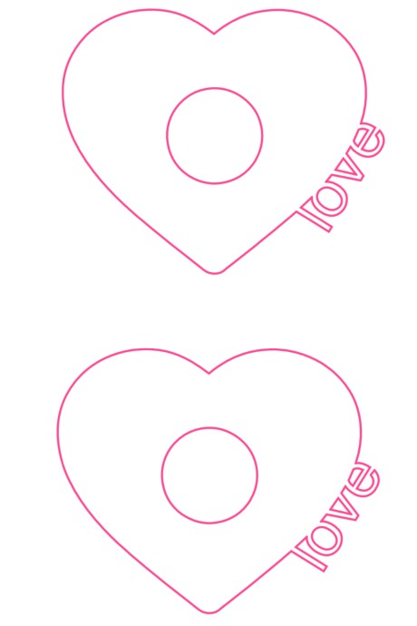 EOS heart with love letters