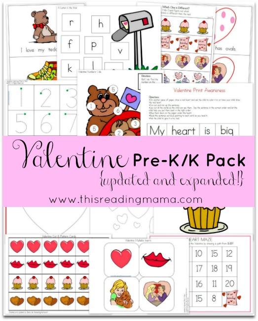 Pre-k Valentine's Day Packet