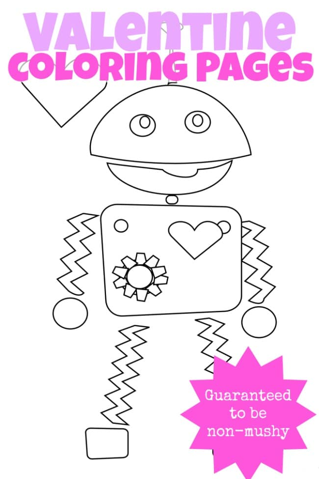 Non Mushy Valentine Coloring Pages