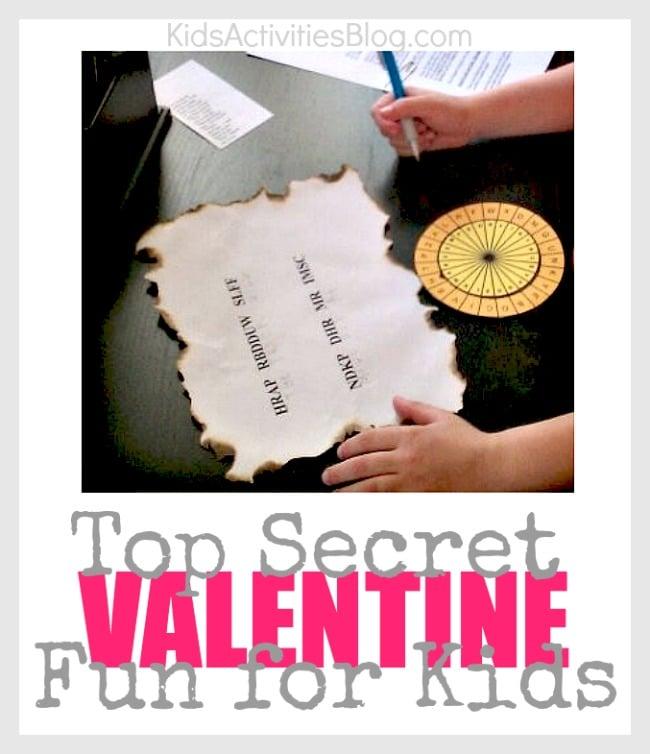 Top secret valentine's for kids