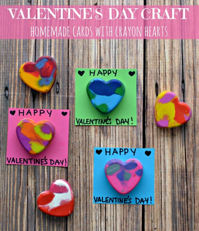 Diy Crayon Hearts For Cards This Valentines Day