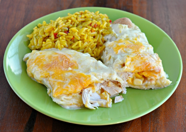 Recipe Easy And Creamy White Chicken Enchiladas