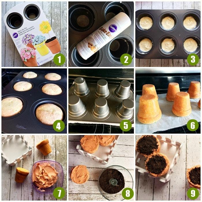 Flower Pot Cupcake Tutorial, Make standout cupcakes with this step by step flower cupcake tutorial, adorable