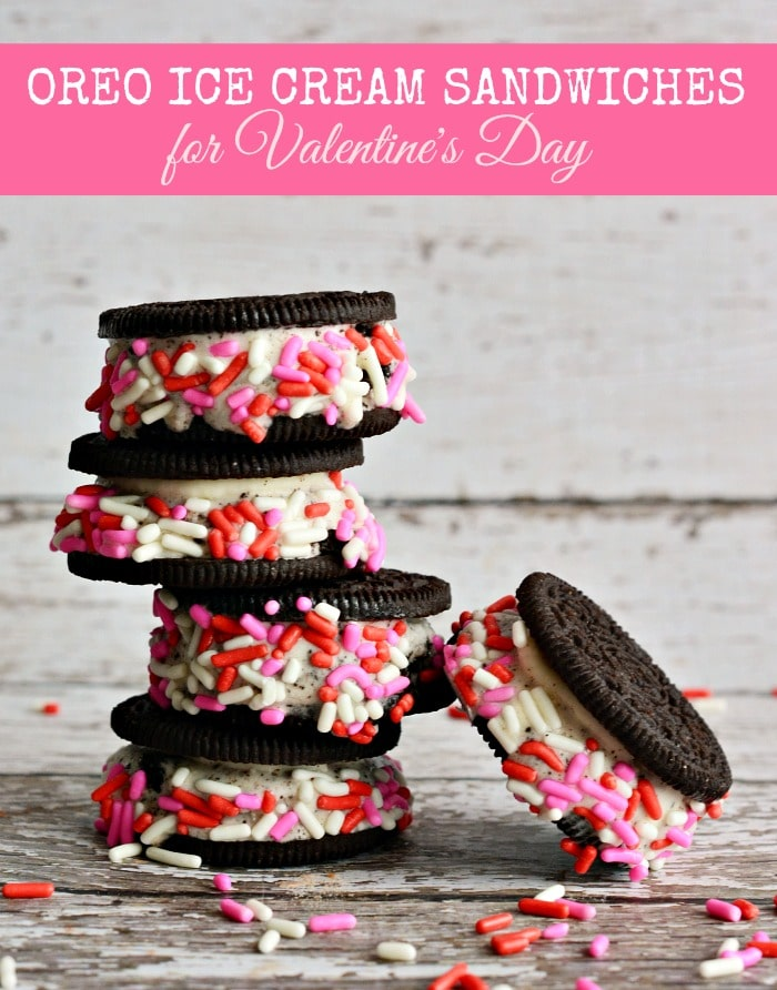 Easy Homemade OREO Ice Cream Sandwiches for Valentine's Day - MomDot