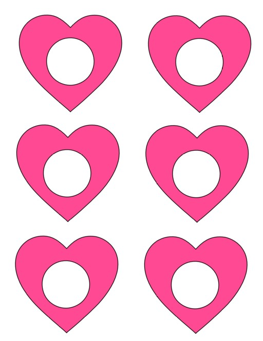 pink heart silouettefiles