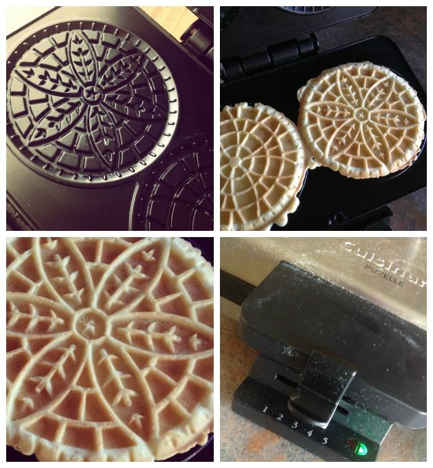Chocolate & Vanilla Italian Pizzelle Cookies